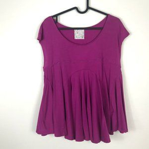 Free People Magenta Pink Flowly Top Size Small